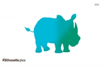 Baby Rhino Silhouette Picture