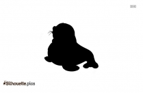 Baby Sea Lion Silhouette Clipart