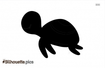 Baby Sea Turtle Silhouette