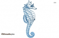 Baby Seahorse Silhouette Illustration Art