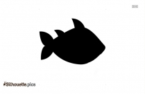 Black And White Cartoon Tuna Silhouette