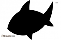Black And White Shark Outline Silhouette
