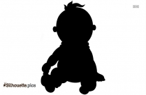 Child Sharing Clipart Silhouette