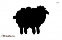 Baby Shower Lamb Silhouette