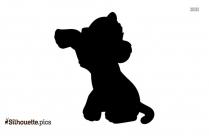 Baby Simba Symbol Silhouette