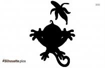Free Cartoon Baby Monkey Silhouette