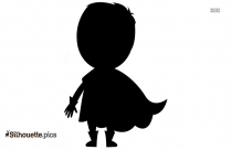 Baby Superhero Silhouette Clip Art