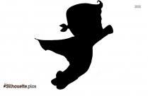 Cute Cartoon Boy Silhouette Drawing