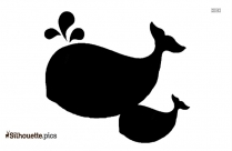 Baby Whale PNG Silhouette