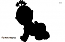 Mother And Baby Bear Cartoon Animal Silhouette