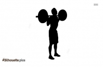 Back Squat Weight Lifting Silhouette