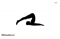 Corpse Pose Yoga Silhouette Illustration Picture