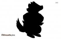 Cute Little Girl Silhouette Clipart