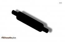 Baking Rolling Pin Silhouette Drawing