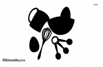 Cooking Utensils Silhouette Drawing