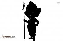 Ganesha Dancing Silhouette