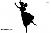 Lady Flamenco Dancer Silhouette