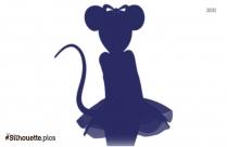 Ballerina Doll Silhouette, Clipart