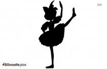 Ballerina Angel Silhouette Icon