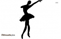 ballet pose silhouette vector