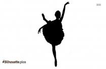 Black Ballet Dancer Silhouette Image