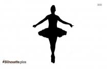 Vintage Ballerina Girl Silhouette