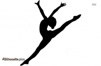 Ballet Girl Dancer Jumping Silhouette