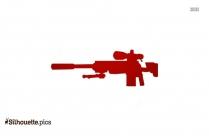 Machine Gun Silhouette Clipart Vector Image