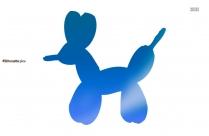Balloon Animals Silhouette Free Vector Art