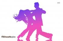 salsa dancing couple silhouette
