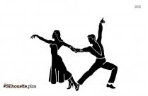 Fun Dancing Couple Silhouette Image