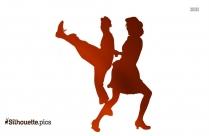 Ballroom Swing Dancers Silhouette Image