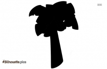 Banana Tree Silhouette Clipart