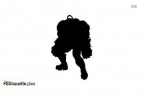 Barney Bear Silhouette Art