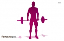 Barbell Shrugs Shoulder Silhouette