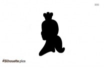 Cinderella Cartoon Silhouette Free Vector Art