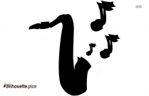 Trumpet Clip Art Black And White Silhouette