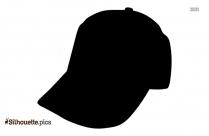 Cartoon Baseball Hat Silhouette