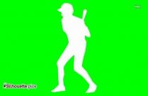Baseball Player Silhouette Art