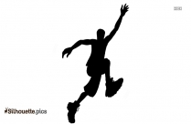 Basketball Player Running Silhouette Clip Art