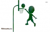 Basketball Player Silhouette Clip Art