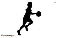 Black And White Volleyball Silhouette, Volleyball Net Vector