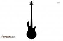 Bass Instrument Silhouette Art
