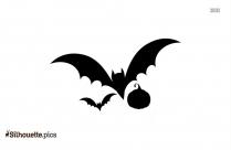 Halloween Cartoon Bats Silhouette Clipart