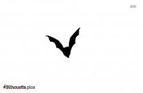 Free Flying Bat Silhouette