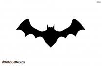 Flying Fox Bat Silhouette