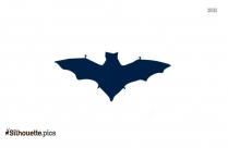 Black Flying Bat Silhouette Image