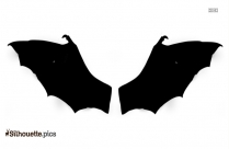 Folded Bat Wings Clipart Vector Image