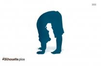 Crane Pose Yoga Symbol Silhouette