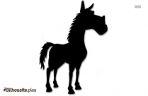 Bay Horse Silhouette Background Image